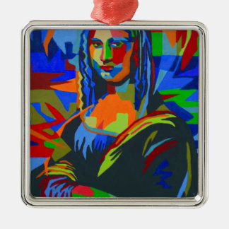 Mona Lisa Wpap Metal Ornament