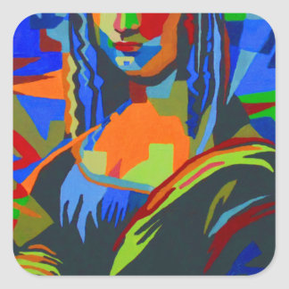 Mona Lisa Wpap Square Sticker