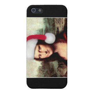 Mona Lisa's Christmas Santa Hat iPhone 5 Covers