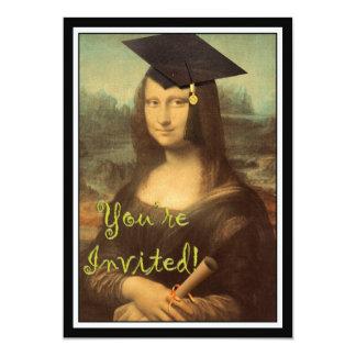Mona Lisa's Graduation Day 13 Cm X 18 Cm Invitation Card
