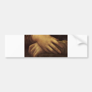 Mona Lisa's Hand by Leonardo da Vinci c. 1505-1513 Bumper Sticker
