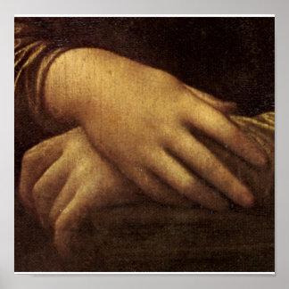 Mona Lisa's Hand by Leonardo da Vinci c. 1505-1513 Poster