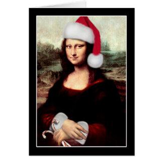 Mona Lisa's Santa Hat Greeting Card
