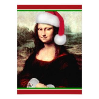 Mona Lisa's Santa Hat Custom Announcements