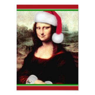 Mona Lisa's Santa Hat 11 Cm X 16 Cm Invitation Card