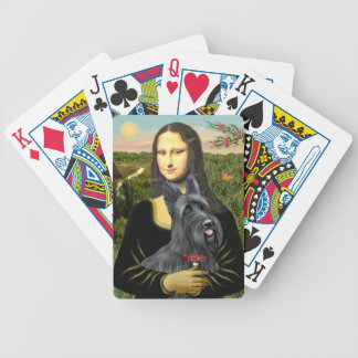 Mona Lisa's Scottish Terrier (#1) Poker Deck