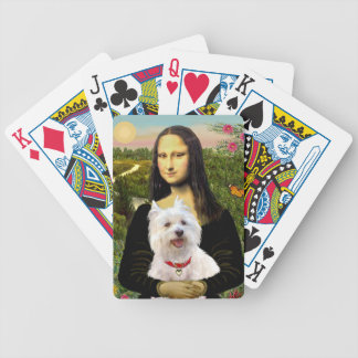 Mona Lisa's West Highland Terrier Bicycle Playing Cards