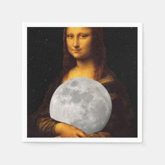 Mona Moona Lisa Paper Napkin