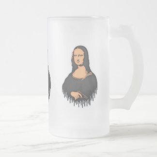 Mona Pistol Frosted Glass Beer Mug
