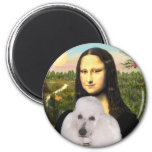 Mona-Pood-White-Standard Poodle 6 Cm Round Magnet