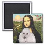 Mona-Pood-White-Standard Poodle Square Magnet