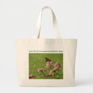 Monach On The Blooms, Save The Environment Avoi... Jumbo Tote Bag