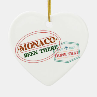 Monaco Been There Done That Ceramic Heart Decoration