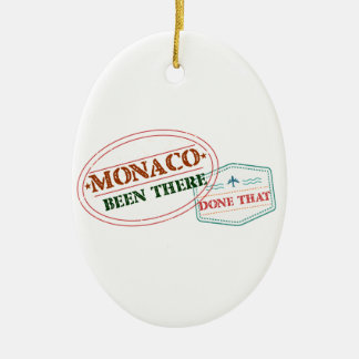 Monaco Been There Done That Ceramic Oval Decoration