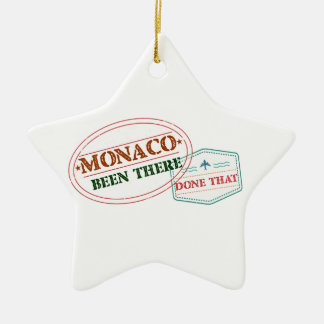 Monaco Been There Done That Ceramic Star Decoration