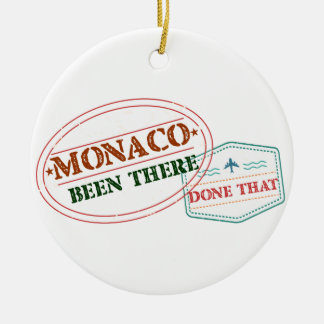 Monaco Been There Done That Round Ceramic Decoration