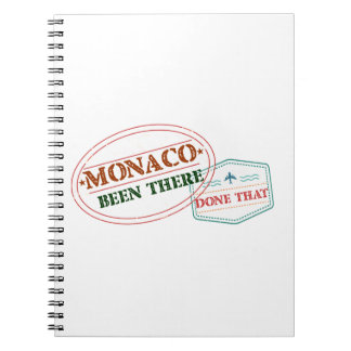 Monaco Been There Done That Spiral Notebook
