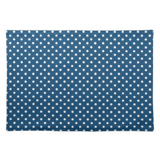 Monaco Blue Polka Dot Pattern Place Mat