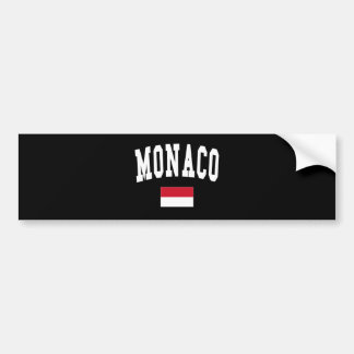 MONACO CAR BUMPER STICKER