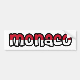 Monaco Bumper Sticker