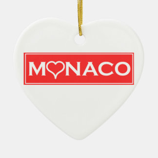 Monaco Ceramic Heart Decoration