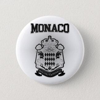Monaco Coat of Arms 6 Cm Round Badge