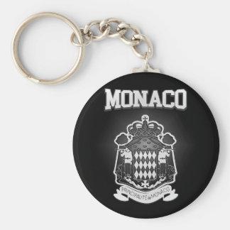 Monaco Coat of Arms Key Ring