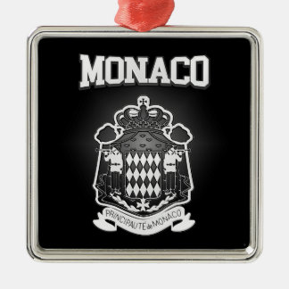 Monaco Coat of Arms Metal Ornament