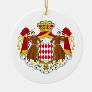 Monaco Coat of Arms Round Ceramic Decoration