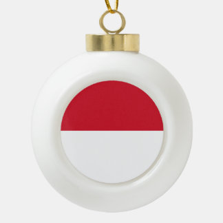 Monaco Flag Ceramic Ball Decoration