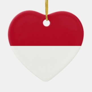 Monaco_flag Ceramic Heart Decoration