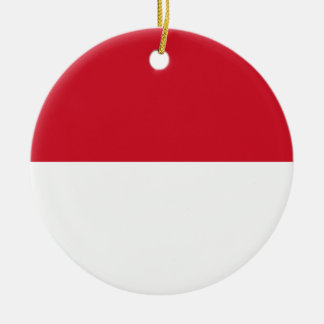 Monaco Flag Ceramic Ornament