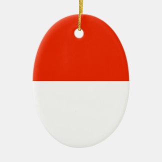 Monaco Flag Ceramic Oval Decoration