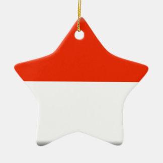 Monaco Flag Ceramic Star Decoration