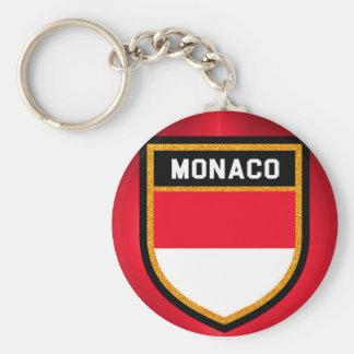 Monaco Flag Key Ring
