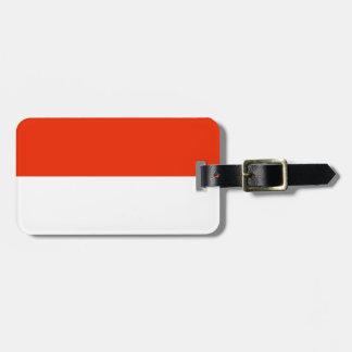 Monaco Flag Luggage Tag