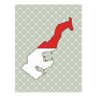 Monaco Flag Map full size Postcard