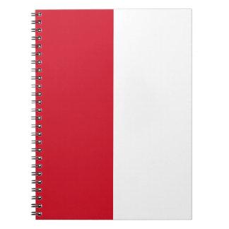Monaco Flag Notebook