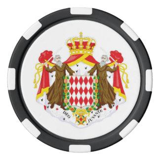 Monaco flag poker chips