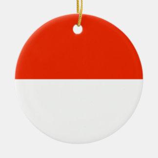 Monaco Flag Round Ceramic Decoration