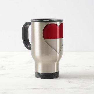 Monaco Flag Travel Mug