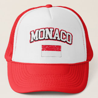Monaco Flag vintage Trucker Hat