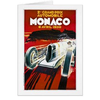 Monaco Grand Prix 1930 Card