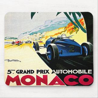 Monaco Grand Prix Car Race Travel Art Mouse Pad