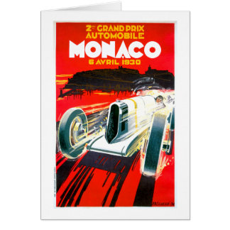 Monaco Grand Prix Race~ Vintage Automobile Ad Card