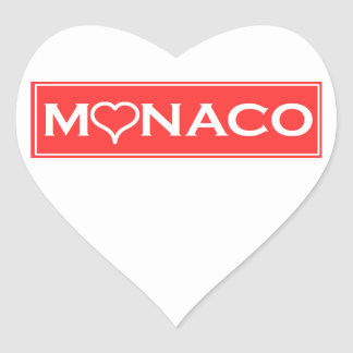 Monaco Heart Sticker