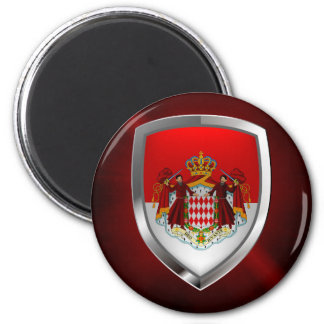 Monaco Metallic Emblem Magnet