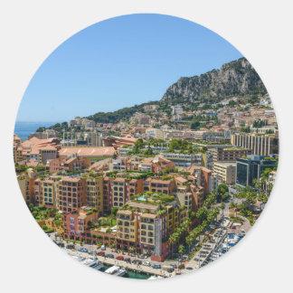 Monaco Monte Carlo Photograph Classic Round Sticker