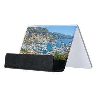 Monaco Monte Carlo Photograph Desk Business Card Holder