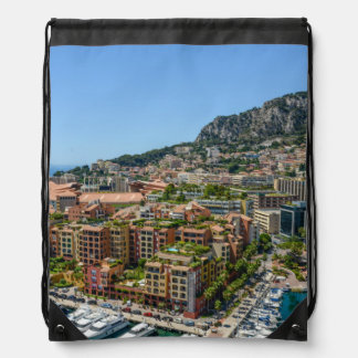 Monaco Monte Carlo Photograph Drawstring Bag